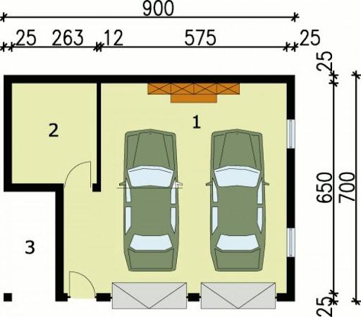 G33 - Rzut garażu