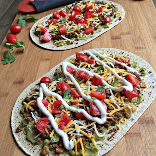 Mexican Taco Flatbread Pizza.