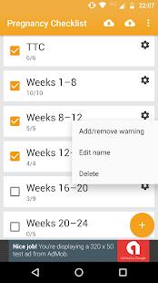 Pregnancy Checklist - náhled