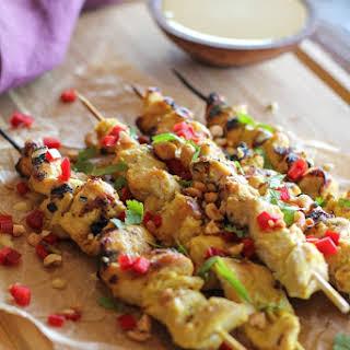 Hummus-Marinated Chicken Satay.