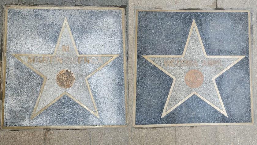 Estado de una de las estrellas instalada en noviembre y otra de una edición anterior de Fical.