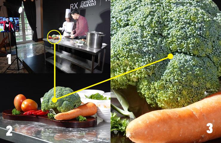 Foto 1: jarak subjek sekira 10m, Foto 2: Zoom maksimal, Foto 3: hasil foto zoom menghasilkan foto yang tetap tajam. Foto:Dicky.