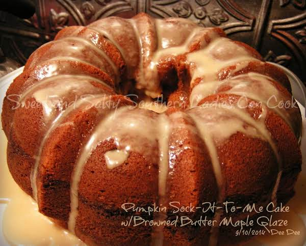 Pumpkin Sock-it-to-me Cake & Butter Maple Glaze Recipe