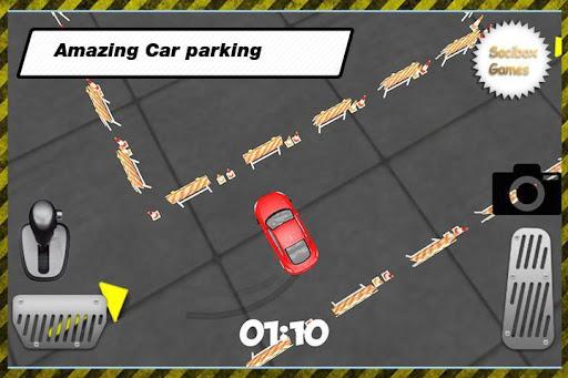 スポーツカーの駐車場