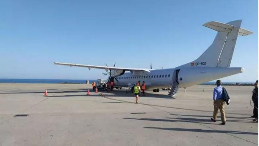 Avión que opera el vuelo entre Almería y Sevilla.