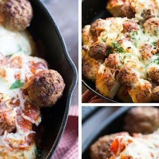 Easy Italian Meatball Bake #Recipe