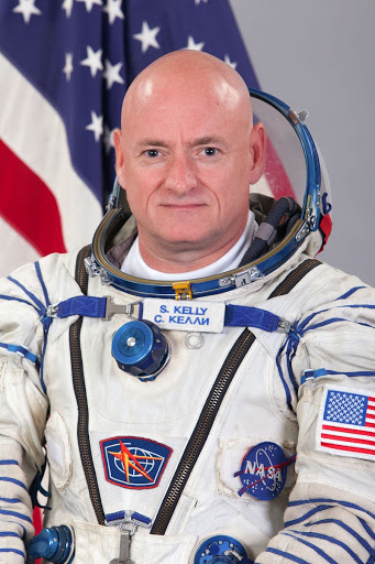 Official crew photograph of NASA astronaut Scott Kelly NASA Flight Engineer with the International Space Station's Expedition 43.