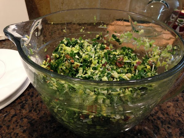 Pour dressing over salad.  Keeps in the fridge for 3-5 days.