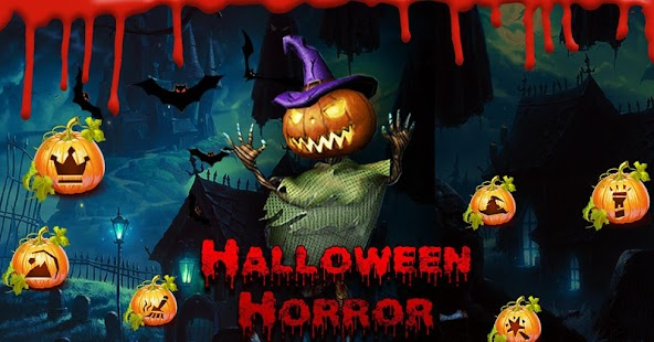 3D Horror Halloween Pumpkin Skin Theme - náhled