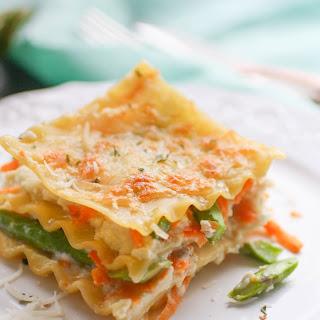 Asparagus and Sweet Potato Lasagna.