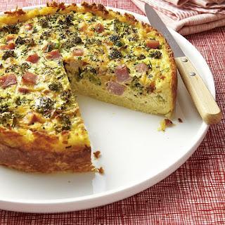 Broccoli, Ham & Cheese Quiche.