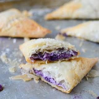 Blueberry Phyllo Dough Turnovers.