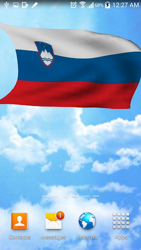 3D Slovenia flag wallpaper