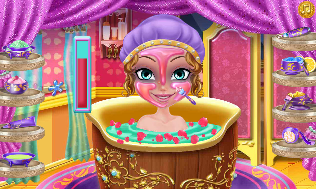 Dress up princess games - Princess Spa And Dress Up Game Screenshot