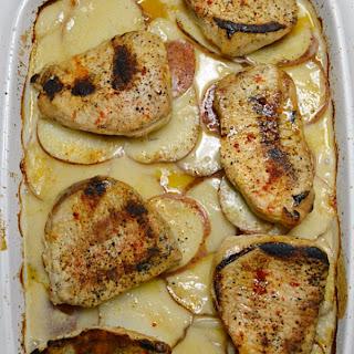 Baked Pork Chops & Scalloped Potatoes.