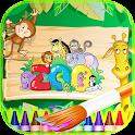 Colorier Animaux de Zoo Livre icon