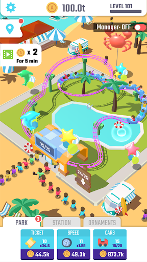 Idle Roller Coaster 1.3.1 screenshots 2