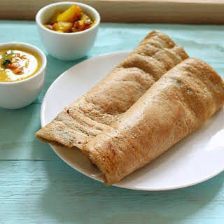 Dosa – Lentil and rice savory Crepes. Vegan Glutenfree.