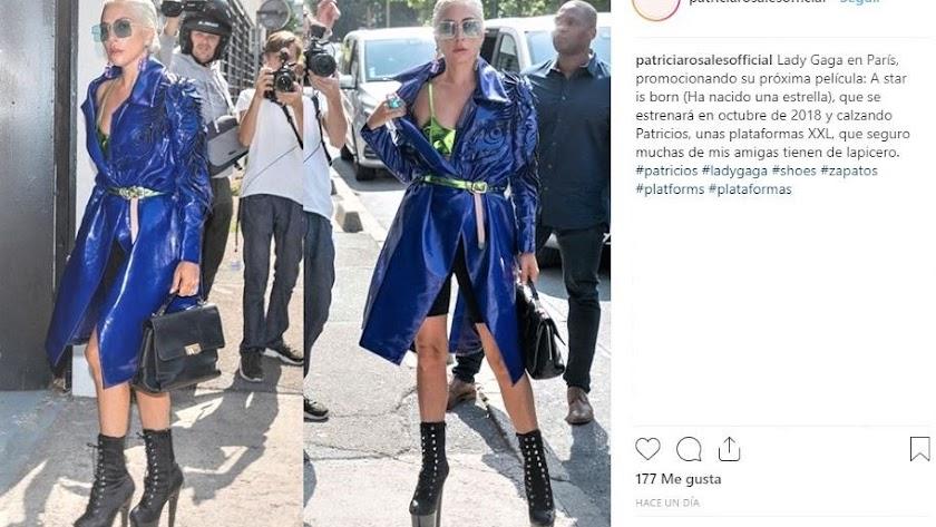 Publicación de la almeriense Patricia Rosales en su perfil de Instagram.