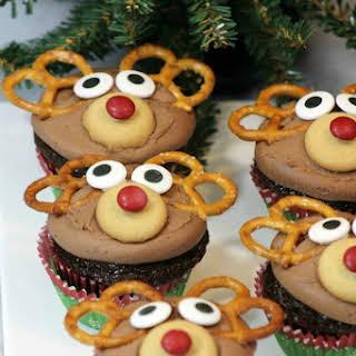 Chocolate Rudolph Cupcakes.