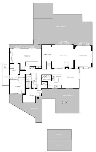 Propriété pointe du Verdon, plan 2D niveau principal