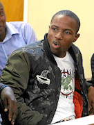 Lethebo Rabalago appearing  in the Mookgopong Magistrate's Court yesterday. / ANTONIO MUCHAVE