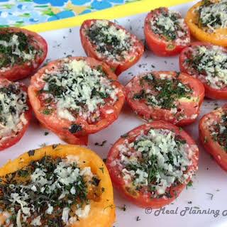 Grilled Parmesan 'n Herb-Crusted Tomatoes.