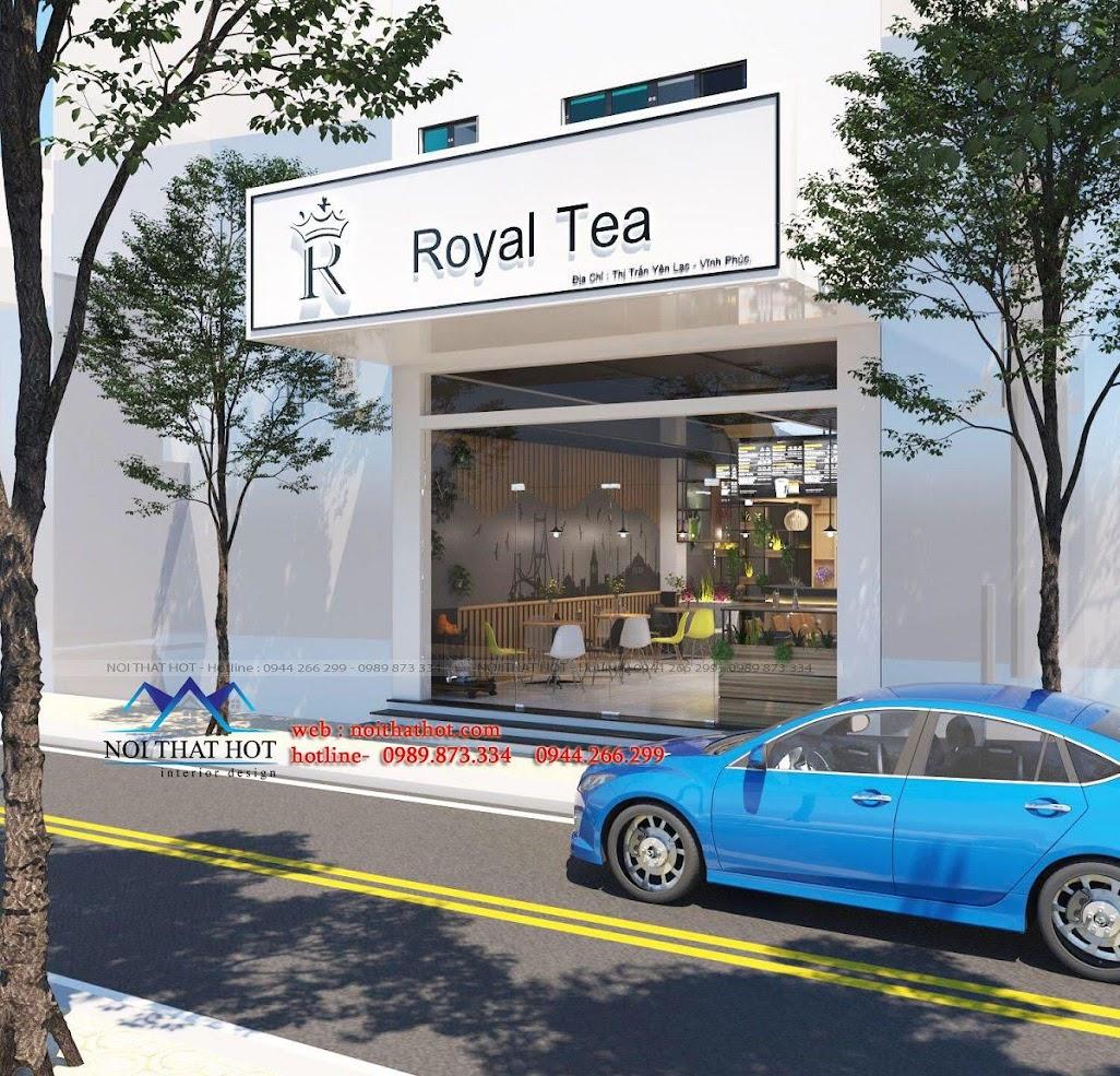 thiết kế quán trà sữa 2