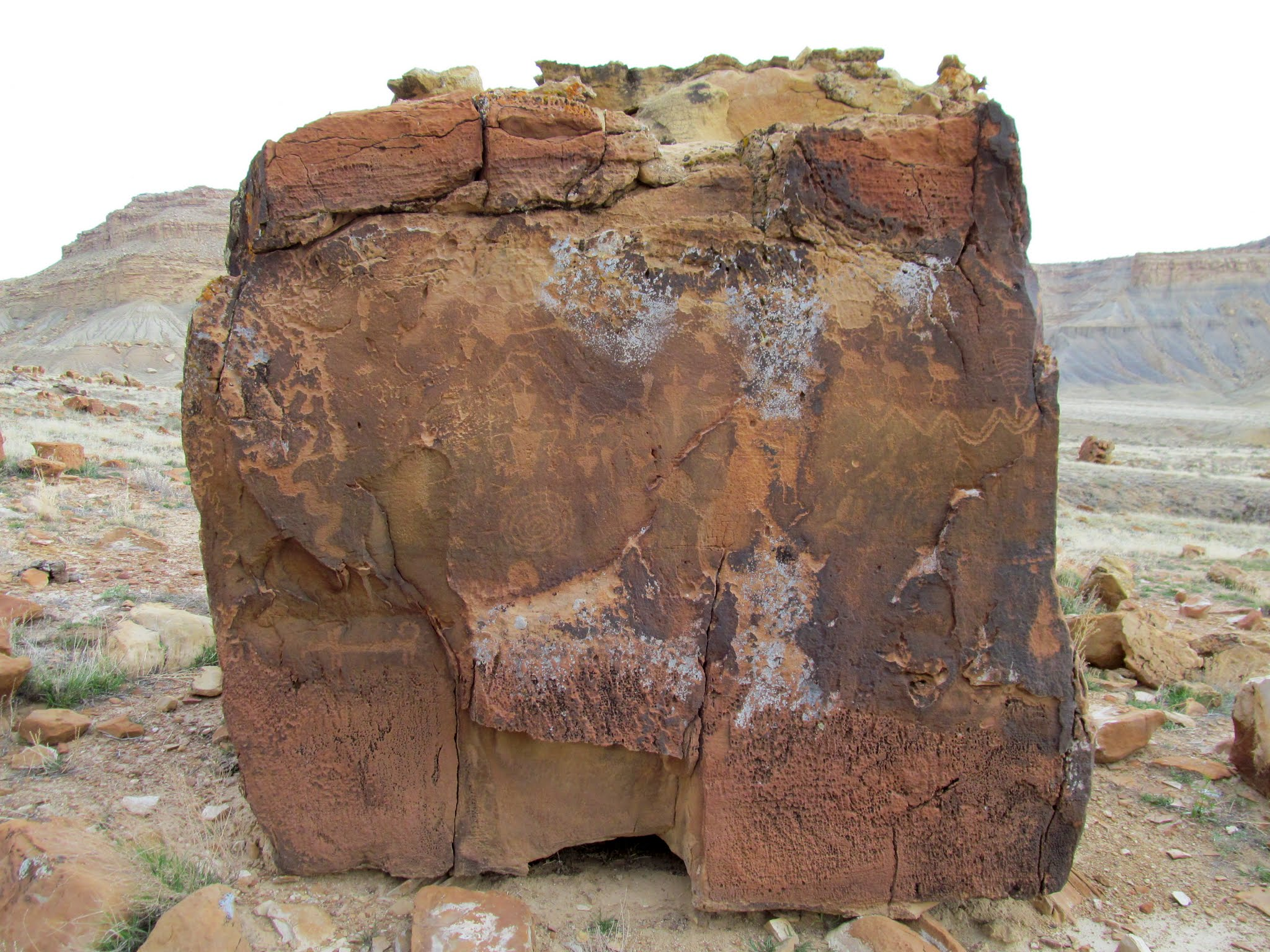 Photo: Square boulder, west side