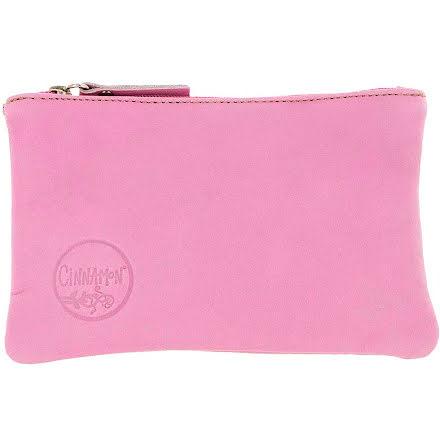 Mini väska rosa 181 i skinn med kreditkortsficka