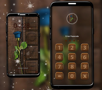 Wooden Launcher Theme - náhled