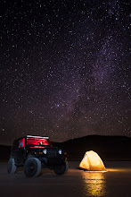 Photo: Camping Under the Stars  The night sky at the Alvord Desert is absolutely fantastic, I've not seen that many stars since standing on the top of Mauna Kea on Hawaii.  This weekend I played a little more with star photography and some light painting. The tent is lit from the inside by my SolarPuff and the +Jeep is lit with my headlamp both inside and out (that took a little running around).  #nightphotography  #jeep  #jeeplife