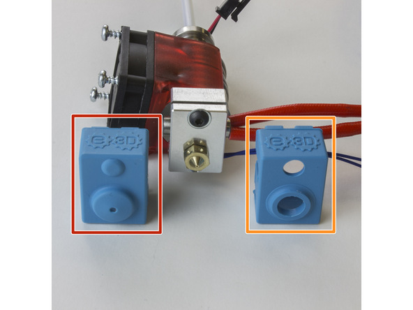 Figure 35: From Left to Right - the Pro Sock, the Hotend and the Normal Sock