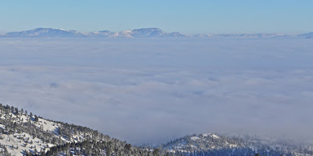 Photo: This inversion lasted for several days, and we had MANY inversions in the winter of 2015-16. To see more Montana hiking adventures, go to bigskywalker.com.