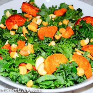 Roasted Sweet Potato Salad with Cashews and Green Onions