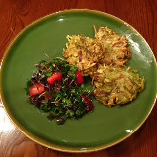 Celery Root And Leek Fritters.