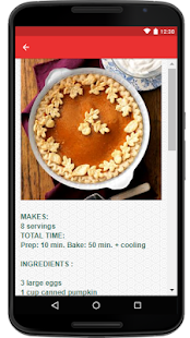 Pumpkin Pie Recipe - náhled
