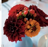 centerpiece red and orange