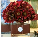 centerpiece deep red