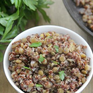 Lentil Quinoa Pilaf.