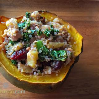 Quinoa Stuffed Acorn Squash.
