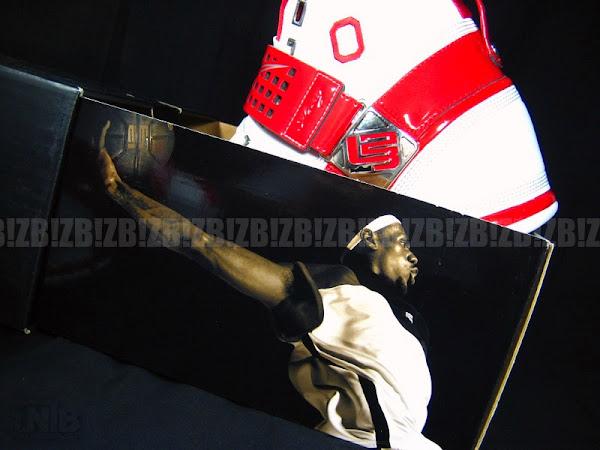 Ohio State University Nike Zoom LeBron V Home PE