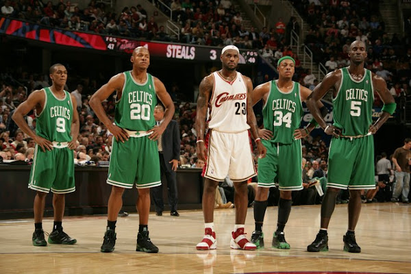200708 NBA Season CLE vs BOS LeBron takes down the Big 3