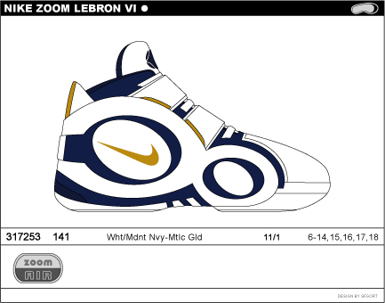 Nike Zoom LeBron VI concept pics leaked to the net