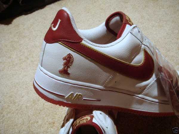 A look at the Nike AF1 LeBron Horsemen PE