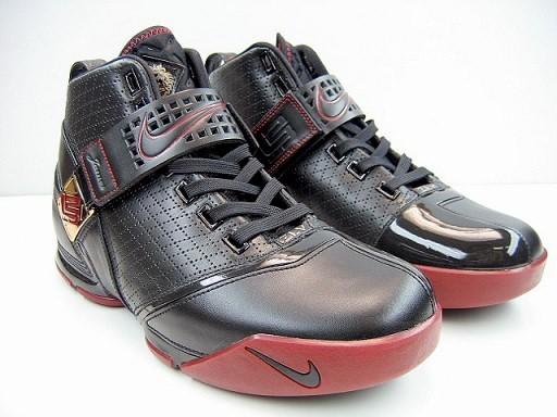 2007 Nike Air Zoom Lebron 5 Fearless BlackWhiteCrimson