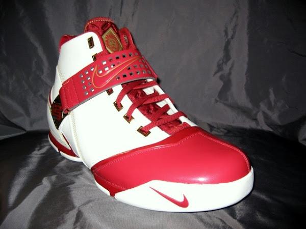 New Nike Zoom LeBron V White and Crimson HOME PE