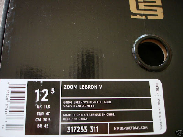 A closer look at the Zoom LeBron V Birthday Exclusive