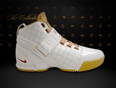 New Nike Zoom LeBron V White and Gold wallpaper