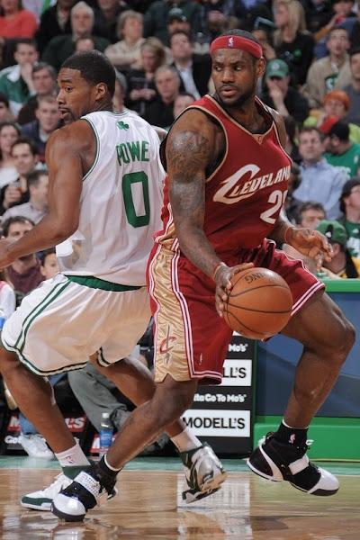 200708 NBA Season CLE at MIL BOS LBJ hits 10000